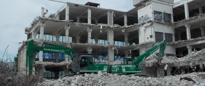 Abriss Gebäude WIWA WAGNER